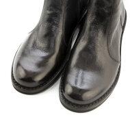 Bubetti - Bubetti 9892 mørkebrun damestøvle i skind med knapper