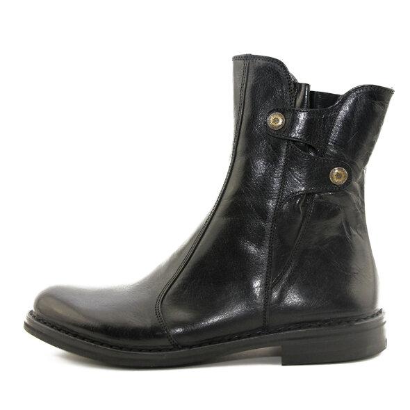 Bubetti - Bubetti 9892 sort damestøvle i skind med knapper