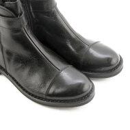 Bubetti - Bubetti 9881 smart nero kort damestøvle i sort med bubetti spænde