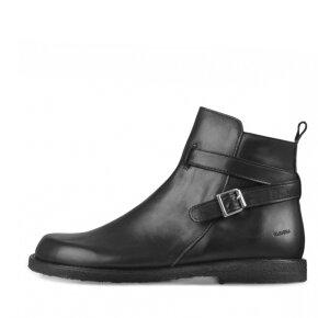 Angulus - Angulus 7109-111 sort fodformet damestøvle med spænde