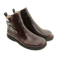 Angulus - Angulus 7109-111 mørkebrun fodformet damestøvle med spænde