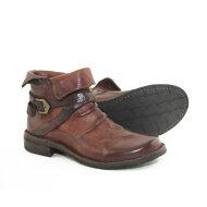 Bubetti - Bubetti 9895 Lux 538 Kastanjebrun Damestøvle med Rem og Bred Snude