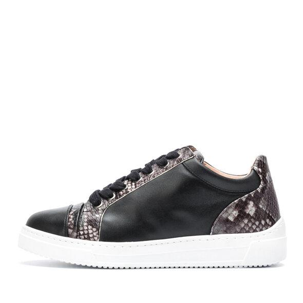 Unisa - Unisa Fiyola Sort Dame Sneaker med Snake Print
