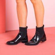 Unisa - Unisa Ellen sort damestøvle med stofskaft