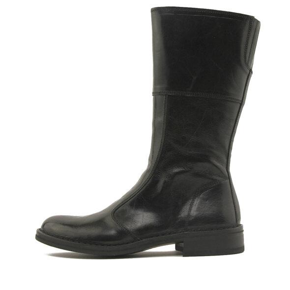 Bubetti - Bubetti 9880 Smart Nero Sort Damestøvle med Mellemlangt Skaft