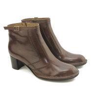 Bubetti - bubetti 5154 dame støvlet i mørkebrun skind med lille hæl og spænde