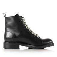 Billi Bi - Billi Bi 7428 sort damestøvle med sølvfarvet kæde