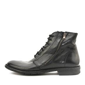 Bubetti - Bubetti 8546 sort herre snørestøvle med dobbelt lynlås