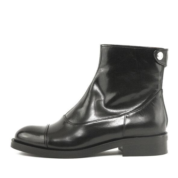 Billi Bi - Billi Bi 3542 sort damestøvle med knaprem bagtil