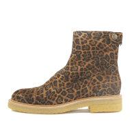 Billi Bi - Billi Bi 3530 leopard damestøvle med knaprem bagtil