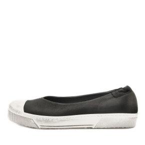 Lofina - Lofina 2E-604 sort ballerina med hvid sneakersål