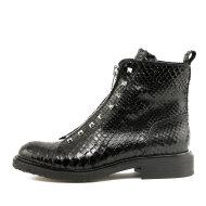 Billi Bi - Billi Bi 3522 sort damestøvle med lynlås og nitter fortil