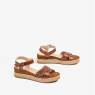 Unisa - Unisa Granada Cognac Dame Sandal med Kilehæl