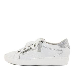 DL Sport - DL SPORT 4601 Hvid Dame Sneaker med Lynlås