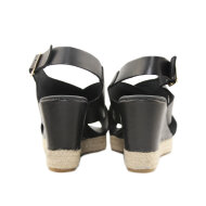 Billi Bi - Billi Bi 4336 Sort Sandal Espadrilles med Kilehæl