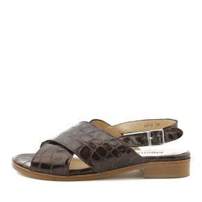 Angulus - Angulus 5618 brun slingback damesandal med lille hæl