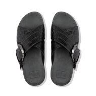 Fitflop - Fitflop Lulu Croco Slide AK4-090 Sort Slip-in Damesandal