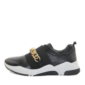 Billi Bi - Billi Bi Sport 4862 Sort Dame Sneaker med Guldkæde