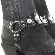 Billi Bi - Billi Bi 4740 Sort Dame Cowboy Støvle