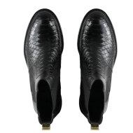 Billi Bi - Billi Bi 7424 Sort Chelsea Støvle med Guld Stribe