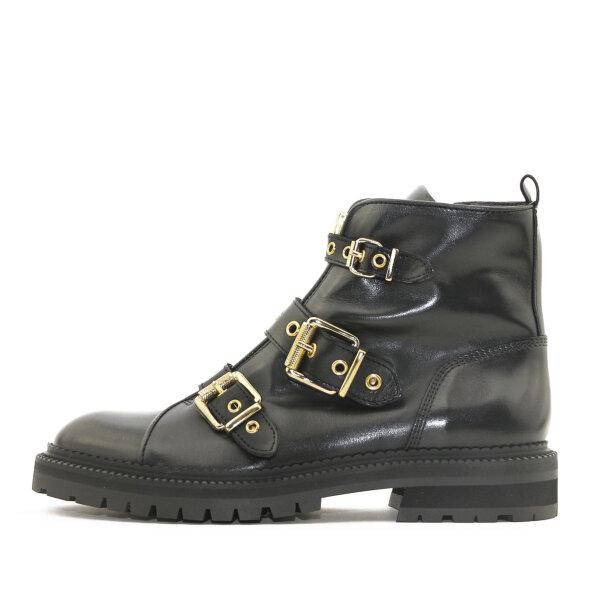 Billi Bi - Billi Bi 3552 Sort Damestøvle med Guldspænder
