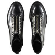 Billi Bi - Billi Bi 27428 Sort Damestøvle med Sølvkæder
