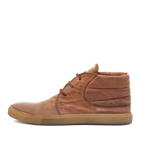Bubetti - Bubetti 9915 Lux 541 Cognac Dame Sneaker i Skind