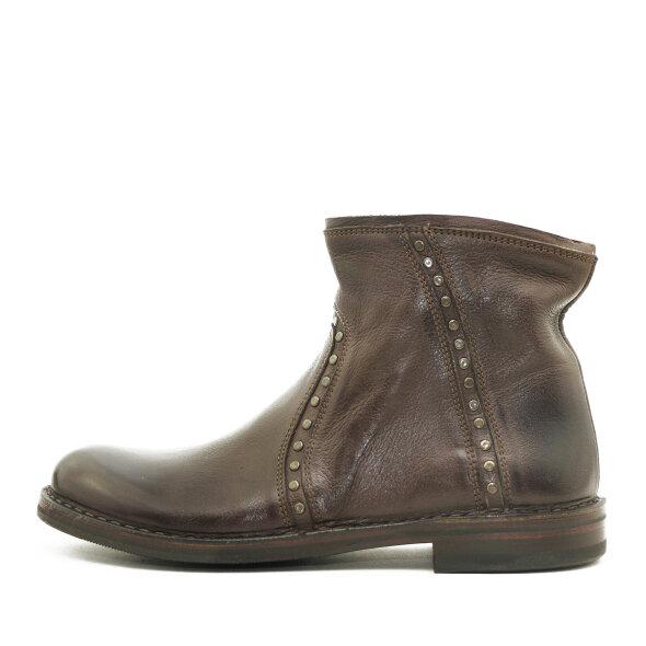 Bubetti - Bubetti 9913 Nabuk Marrone Mørkebrun Dame Ankelstøvle med Nitter