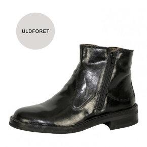 Bubetti - Bubetti 2558M Sort Damestøvle i skind med foer