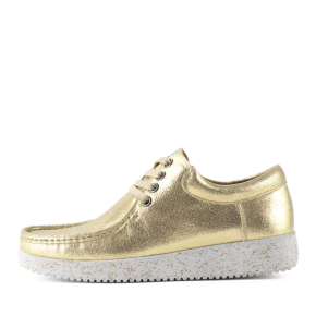 Nature  - Nature Anna Metallic Leather Gold Guldfarvet Damesko