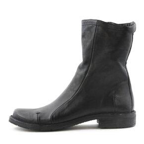 Bubetti - Bubetti 9941 Lux Nero Sort Damestøvle med Mellemlangt Skaft