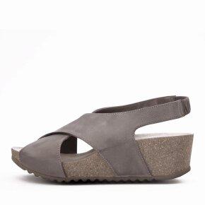 Lofina - Lofina E5-191 grå brun damesandal med kilehæl