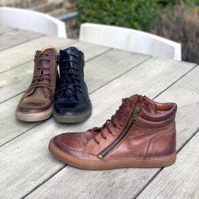 Bubetti - Bubetti 6908 Lux 538 Kastanjebrun Dame Sneaker i Skind