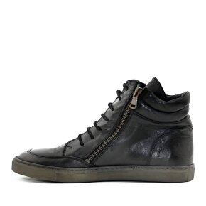 Bubetti - Bubetti 6908 Lux Nero Sort Dame Sneaker i Skind