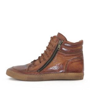 Bubetti - Bubetti 6908 Cognac Dame Sneaker i Skind