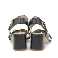 Angulus - Angulus 5628-101 Sort Dame Sandal med Blokhæl