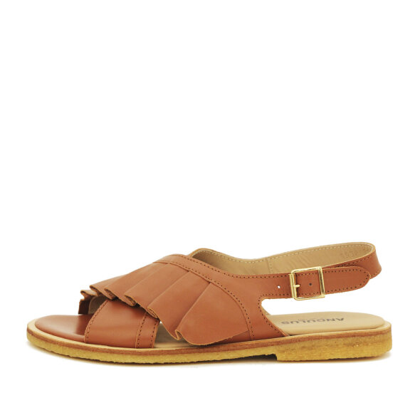 Angulus - Angulus 5538-101 cognac dame sandal med flæse