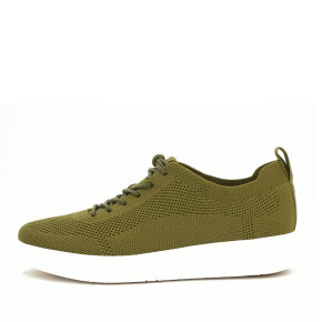 Fitflop - Fitflop DR4-001 OlivenRally Knit Sneaker