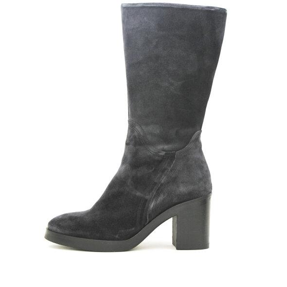 Via Vai - Via Vai Taara 57139 off black ruskinds støvle med høj blokhæl