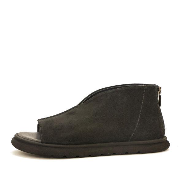 Lofina - Lofina 1E-267 sandal i Nubuck sort med lynlås