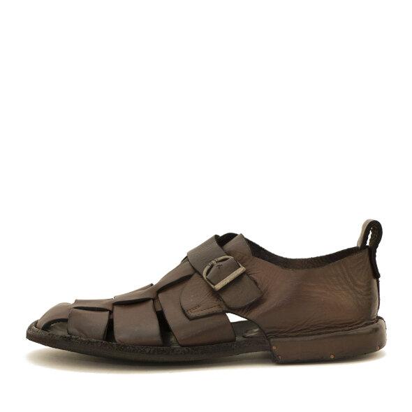 Bubetti - Bubetti 3554 Lux 539 mørk brun damesandal med hælkappe