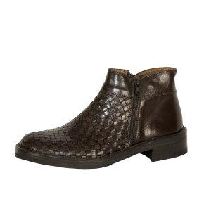 Bubetti - Bubetti 2609 mørkebrun damestøvle med flet