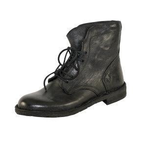 Bubetti - Bubetti 9665 Lux Nero Sort Dame Snørestøvle