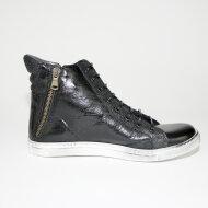 Bubetti - Bubetti 6928 Sierra.Nero - sort sneaker med 2 lynlåse