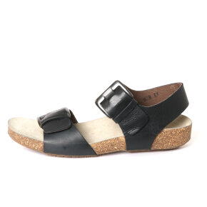 Lofina - Lofina 808 2017 sort dame sandal med fodseng