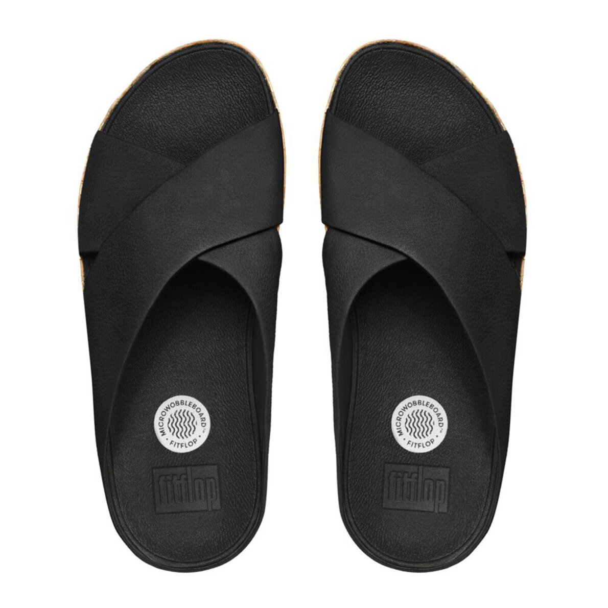 c8e5ed1cb72e37 Fitflop KYS KORK All Black sandal - Køb på Piedi.dk