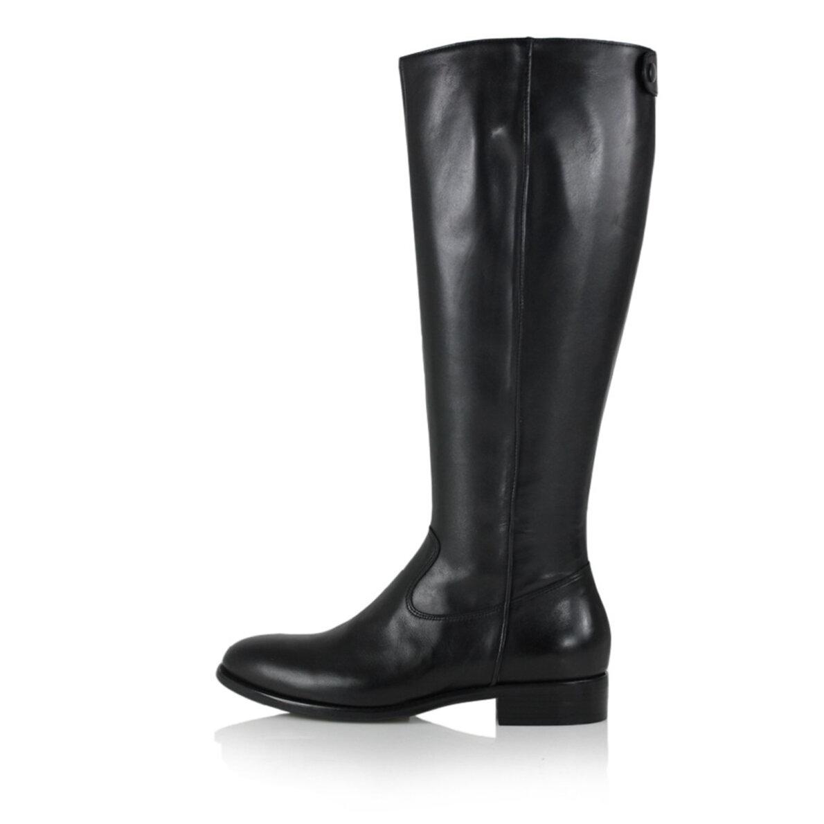 c8d7128f7051 Billi Bi - Billi Bi 1013 sort lang damestøvle i skind ...