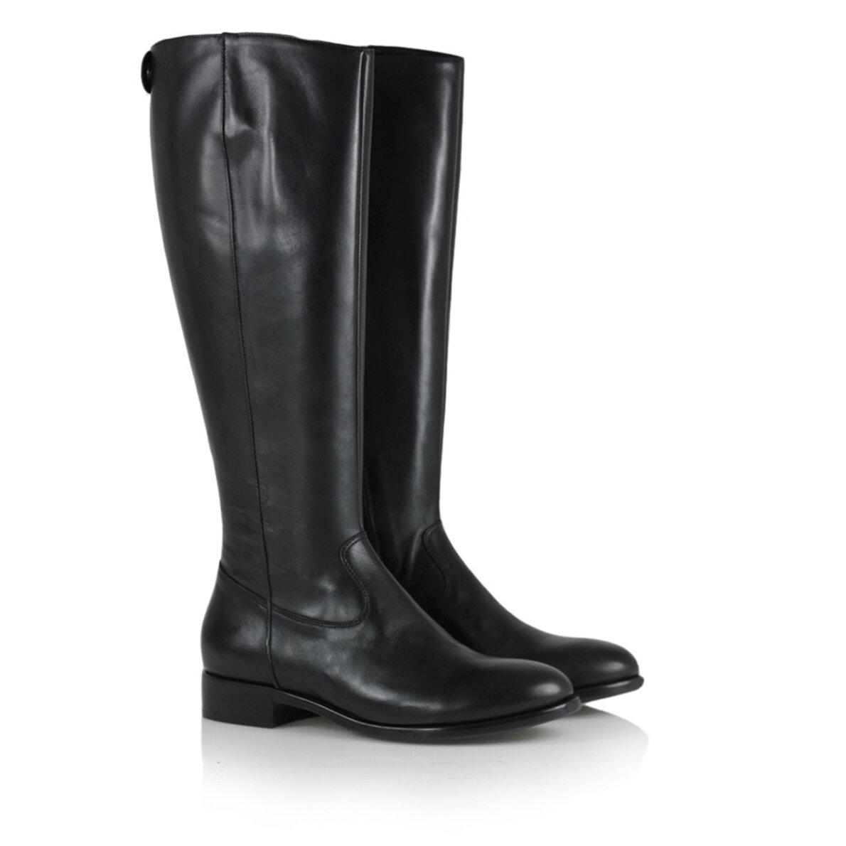 2f544f8b690e ... Billi Bi - Billi Bi 1013 sort lang damestøvle i skind ...