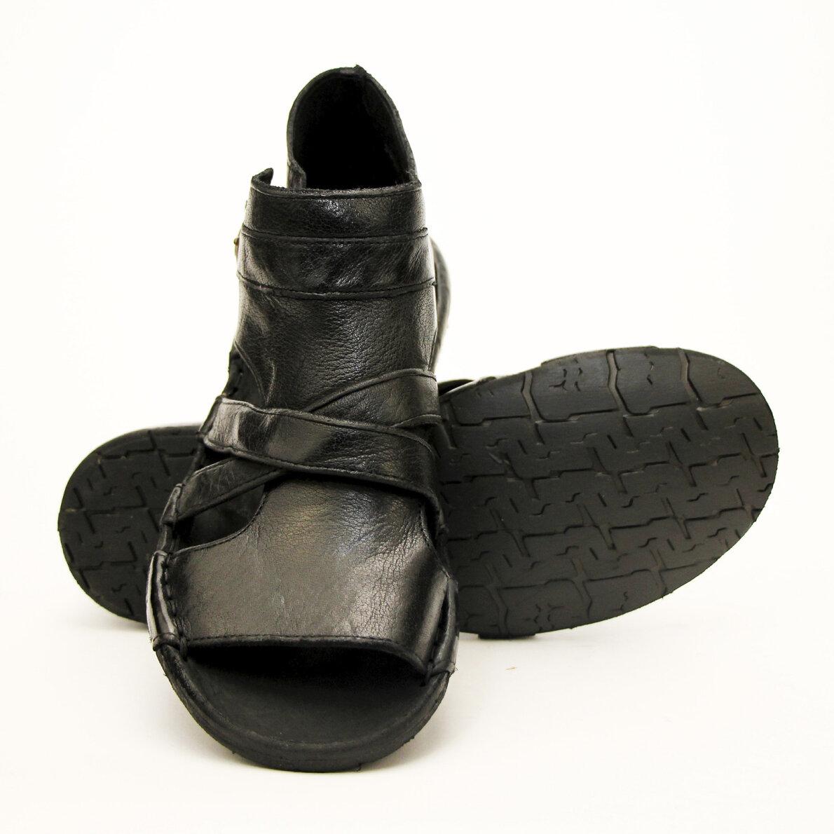 PIEDI Bubetti 3491 sort gladiator sandal i skind Piedi.dk