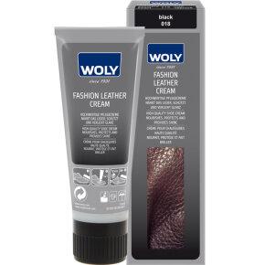 Woly Fashion Leather Cream Black Skopleje - Køb på Piedi.dk